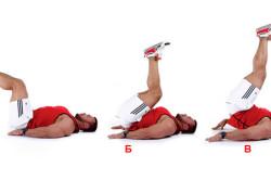 Упражнение с подниманием ног при простатите