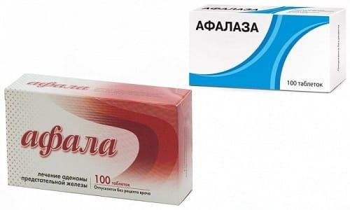 При заболеваниях предстательной железы мужчины задумываются над тем, что лучше - Афала или Афалаза, т. к. оба лекарства способствуют избавлению от доброкачественной гиперплазии органа